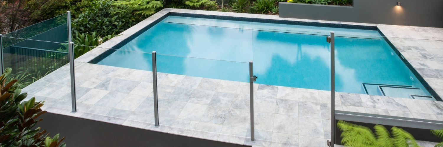 semi frameless glass fence northern beaches
